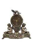 Twin Cherubs Playing Instruments Clock - Art Nouveau & Art Deco.