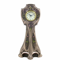 Mackintosh Style Art Nouveau Rose Art Nouveau Clock Sculpture