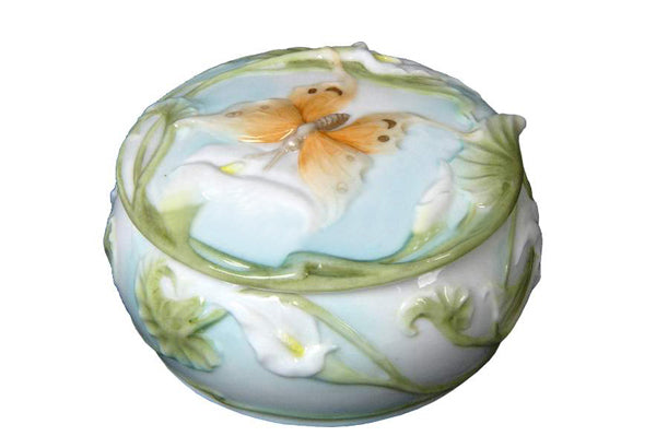 Butterfly & Calla Lily Trinket Box - Trinket box