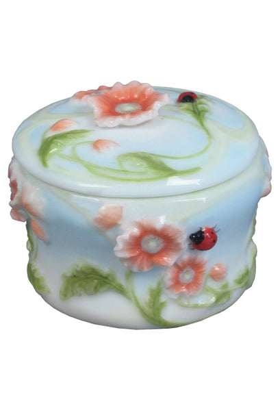 Poppy & Lady Bug Trinket Box - Animal