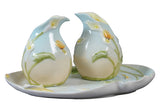 Calla Lily Salt & Pepper Set On Tray