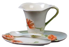 Poppy Coffee Cup Set With Spoon - Poppy