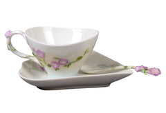 Morning Glory Coffee Set With Spoon - Home Accent.