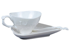 Morning Glory Coffee Set With Spoon (White) - Others