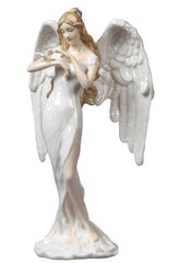 Guardian Angel - Angel With Dove (White Dress) - Religious.