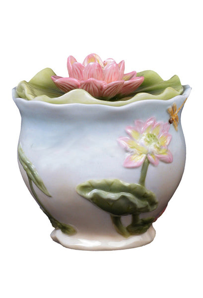 Lotus & Butterfly Condiment Jar - Home Accent.