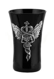 Winged Skull Pierced By Knife With Snakes Shot Glass - Home Accent.