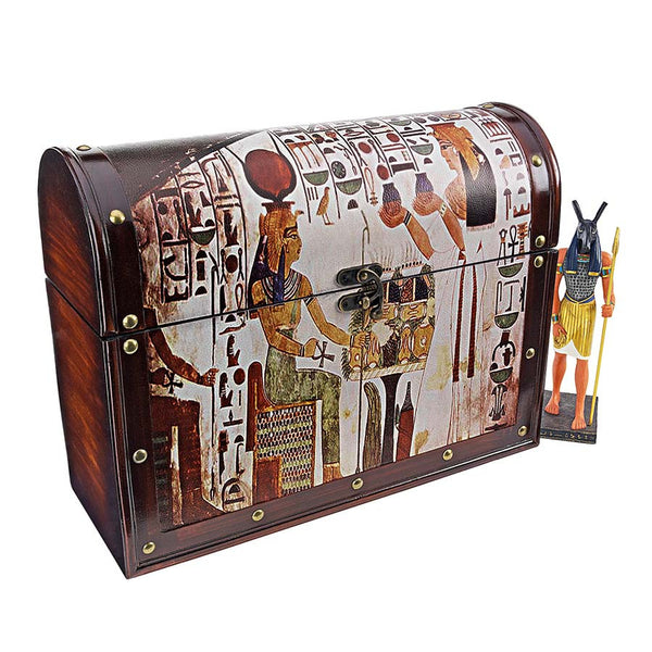 "12"" Classic Egyptian Safe Chest Vault"
