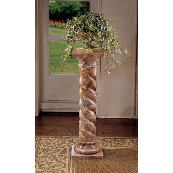 "30"" Classic Italian Natural Stone Solid Marble Column Pedestal Stand"
