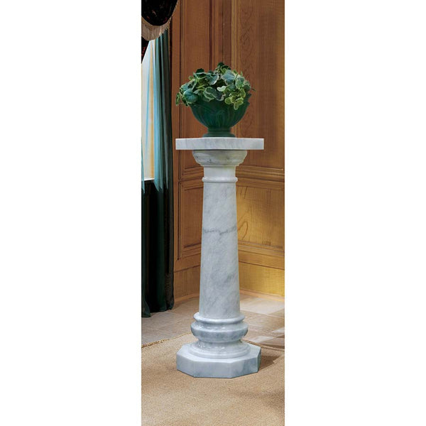 "43.5"" Decorative Fireplace Solid Marble Column Pedestal"