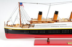 XoticBrands Decor TITANIC PAINTED XL Boat  Model Display