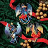 "5"" Three Dragons of Talbooth Sculptural Holiday Ornaments"
