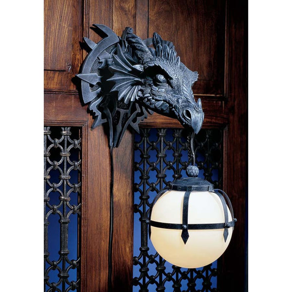 Decorative Contemporary Dragon Trophy Sculptural Wall Light Sconce (Xoticbrands)