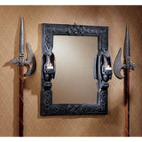 "24"" Twin Dragon Decorative Wall Mirror/Dragon Candle Holder"