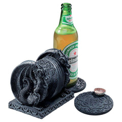 "4.5"" Celtic Medieval Dragon coaster set for drinks"