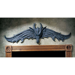 "35"" Dragon Sculptural Architectural Wall Decor Pediment"