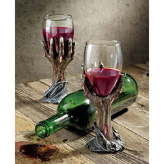 Gothic Zombie Hands Wine Blood Goblet - Set of 2