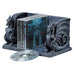 "6"" Medieval Gothic Dragon Sculpture Decorative CD Holder Storage/ Bookend"