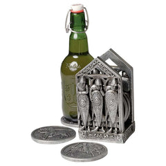 Classic gothic Medieval Warriors Coaster for drinks Beer Set - 6 Coasters