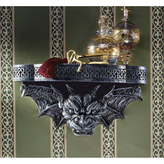 Ferocious Dragon Gargoyle Sculpture Wall Shelf