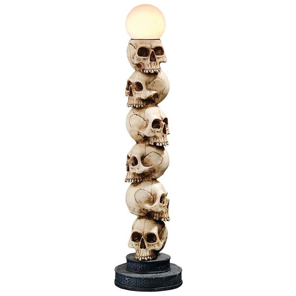 "27.5"" Gothic Skull Lighted Sculpture Table Floor Lamp"