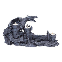 "8.5"" Gothic Medieval Dragon Castle Candle Holder Stand"