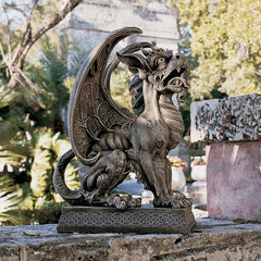 Large Medieval Gothic Gargoyle Dragon Statue Sculpture Figurine [Kitchen]