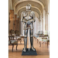 Knight's Guard Medieval Armor Statue with Sword