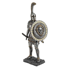 "16"" Greek Ancient Warrior Desktop Sculpture Figurine Statue"