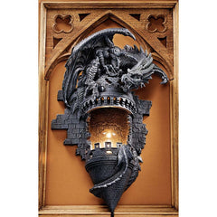 Sculptural Wall Sconce (The Dragon's Castle)
