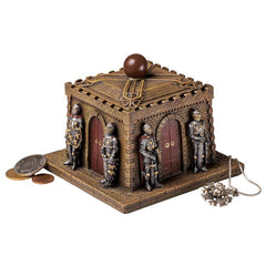 "3.5"" Classic Medieval Knights Castle Treasure Jewelry Box"