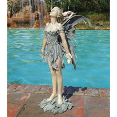"27"" Winged Breeze Spirit of the Wind Fairy Statue (Xoticbrands)"