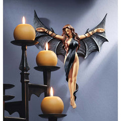"12"" Semi Nude Female Vampire Wall Sculpture Statue"