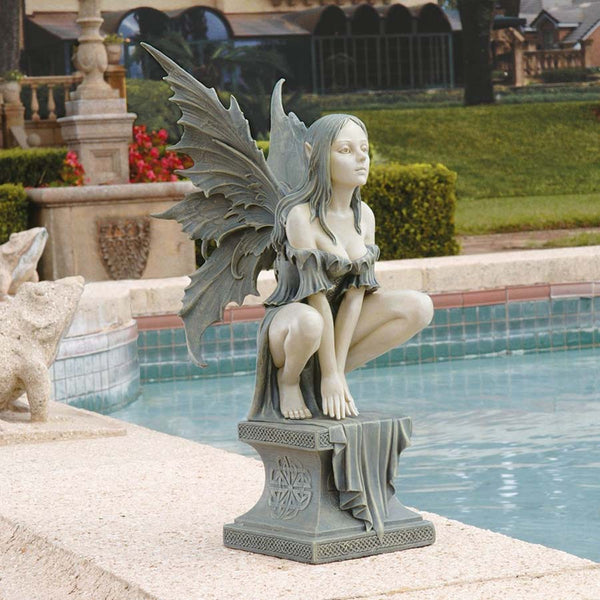 "19"" Take Flight Pixie Fairy Home Garden Statue Sculpture Figurine"