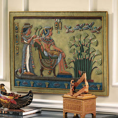"24"" Royal Nile Barge Sculptural Wall Frieze"