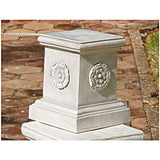 "13"" European Rosette Home Garden Sculptural Base"