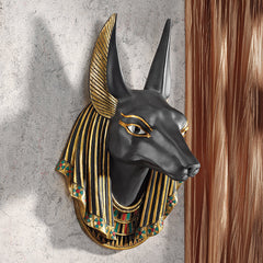 Classic Egyptian Statue Anubis Jackal Wall Sculpture Figurine Decor