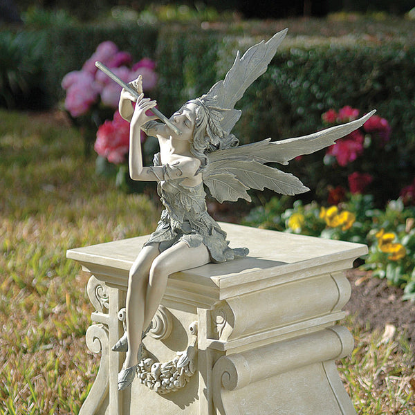 "19"" Singing Fairy Home Garden Gallery Statue Sculpture Figurine"