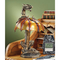 "17"" Dragon Sculptural Illuminated Table Lamp"