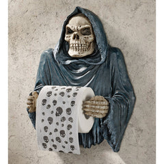 "13"" Decorative Mystical Grim Reaper Sculptural Bath Tissue Statue"