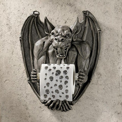 "14"" Gothic Medieval Gargoyle Statue Sculpture/ Bathroom Tissue Holder"
