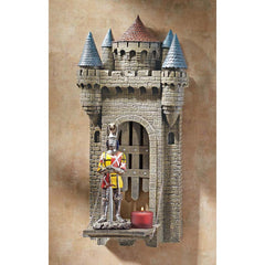 Classic French Collectible Medieval Castle Sculptural Wall Shelf