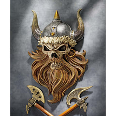 "12"" Collectible Pirate Viking Warrior Wall Statue Decor [Kitchen]"
