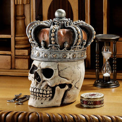 Collectible Gothic Skull Treasure/ Jewelry Box
