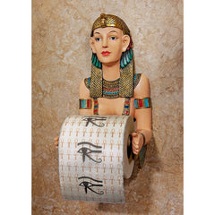 Classic Egyptian Sculpture Statue Decorative Bath Tissue Holder