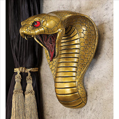 Egyptian Snake Goddesses Decorative Sculptural Home Gallery Wall Shelf (Xoticbrands)