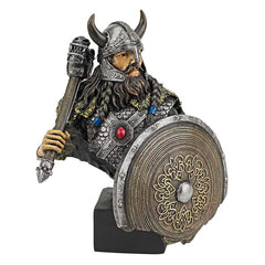 Medieval Scandinavian Warrior Desktop Statue Sculpture Figurine