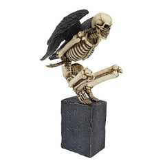 Gothic Bones Skull Angel Tabletop Desktop Statue Sculpture Figurine