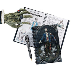 Ghoulish Zombie Post Apocalyptic Spiral-Bound Journal