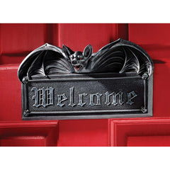 Vampire Bat Welcome Wall Sculpture